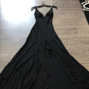 Gorgeous black gown with slit